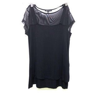 Dressy Tee with Mesh